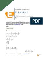 Guia 0 y 1 de Analisis Matematico