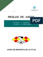 reglas de juego futbol-7 futbol-8 -actualizacion -2014-2015
