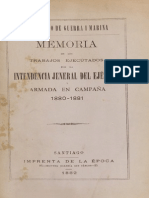 Informe Intendencia Guerra Del Pacifico