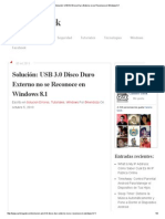Solución_ USB 3.0 Disco Duro Externo No Se Reconoce en Windows 8