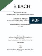 Conciertos Para Oboe, j.s. Bach