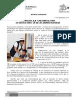 11/08/2014 PREVENCIÓN, EJE FUNDAMENTAL PARA UN OAXACA SANO- CS DE SAN ANDRÉS HUAYAPAM
