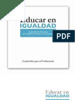 EDUCAR en IGUALDAD Cuadernillo Para El Profesorado