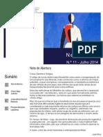 Newsletter CAMMP n.º 11 de Julho de 2014