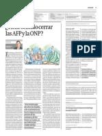 Tiene Sentido Cerrar Las AFP y ONP_Gestión 12-08-2014