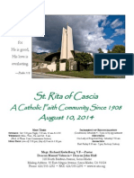 St. Rita Parish Bulletin 8/10/2014