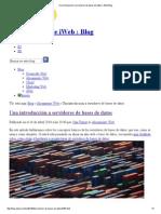 Una Introducción a Servidores de Bases de Datos _ IWeb Blog