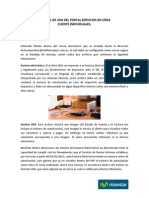 Manual de Uso Del Portal Servicios en Línea Individuales