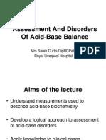 Assessment Disorders Acidbase Sarah Curtis