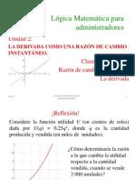 2.1_La Derivada_Razon de Cambio