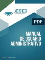GESED - Manual de Usuario Administrativo