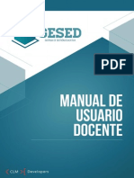 GESED - Manual de Usuario Docente