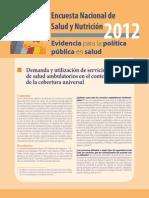 ENSANUT 2012_Demanda y Utilización de Consulta Ambulante