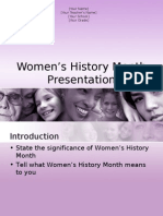 Womens History Month Presentation