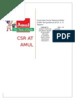 CSR activity at AMUL