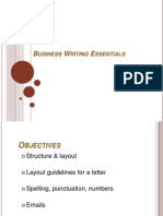 Business Writing Essentials Generic