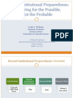 Beyond Institutional Preparedness