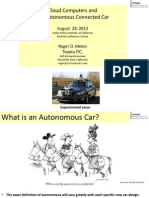 Cloud Computers and the Autonomous Connected Car Rev 40