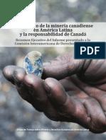 El Impacto de La Minería Canadiense en América Latina