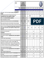 2011 VW Service Schedule