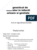 Diagnosticul de Laborator Al Infectiilor Tractului Urinar Si Genital
