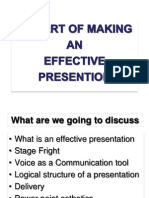 The Art of Making Effective Presentation 1010 Part One
