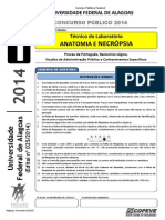 Prova NM - Tecnico de Laboratorio - ANATOMIA E NECROPSIA - Tipo 1