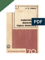 Materialismo Dialectico y Logica Dialectica Aleksandr Georgievich Spirkin