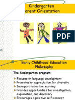 kindergarten parent orientation 04-10-12
