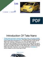 Presentation on Tata Nano