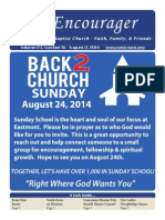 Encourager for August 17, 2014