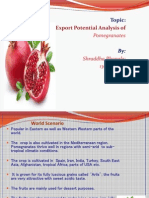 Export potential analysis of Pomegranates in India