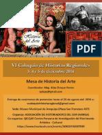 MESA DE HISTORIA DEL ARTE en el VI COLOQUIO DE HISTORIAS REGIONALES - AREQUIPA 2014