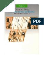 Alfoldy, Historia Social de Roma