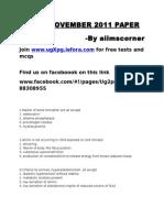 AIIMS Nov 2011 Paper