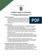 2014 A Parent's Guide to Concussion