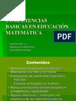 Ponencia Competencias Basicas en Educacion Matematica