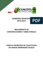 Reglamento de Construcciones y Obra Pública - Cuautitlán de Garcia Barragan Jalisco