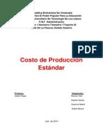 Costo de Producción Estándar