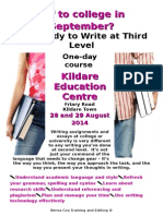 Get Ready to Write at 3rd Level 2014