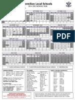 Vermilion School 2014-2015 Calendar