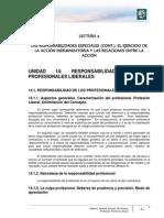 Lectura 4 - Las Responsabilidades Especiales _cont._, El Ejercicio de La Acción Indemnizatoria y Las Relaciones Entre La Acción Civil y Penal