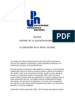 Historia de La Educacion en México