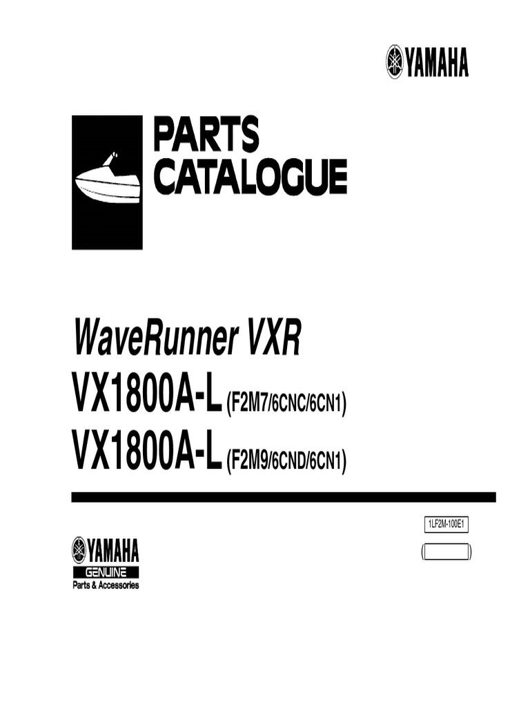Waverunner Vxr: Vx1800A-L Vx1800A-L