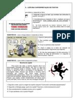 Atividades Sugeridas Para 8 e 9 Ano - Leitura e Interpretação Textual