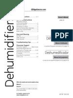 GE Dehumidifier Adel30lr Use and Care Manual
