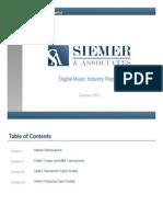 Digital Music Report June 2013 Siemers