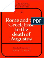 Rome and the Greek East to the Death of Augustus (Translated Documents of Greece and Rome