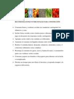Recomendaciones Nutricionales Para Constipación Rich