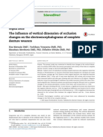 Journal of Prosthodontic Research Volume 58 Issue 2 2014 [Doi 10.1016%2Fj.jpor.2014.01.003] Matsuda, Risa; Yoneyama, Yoshikazu; Morokuma, Masakazu; Ohkubo, -- The Influence of Vertical Dimension of Occlusion Changes on